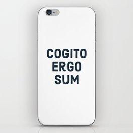 COGITO ERGO SUM René Descartes iPhone Skin