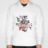 coconutwishes Hoodies featuring Drag Me Down by Coconut Wishes
