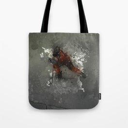 On Ice - Ice Hockey Player Modern Art Tote Bag
