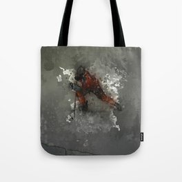 On Ice - Ice Hockey Player Modern Art Tote Bag