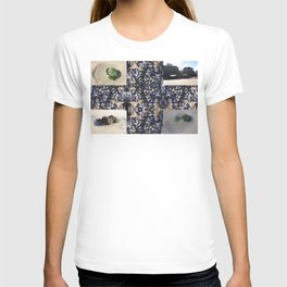 Cornwall Mussels and other Low Tide Beach Photo Composite Newquay Cornwall T-shirt