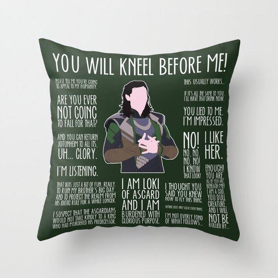 Loki Throw Pillow