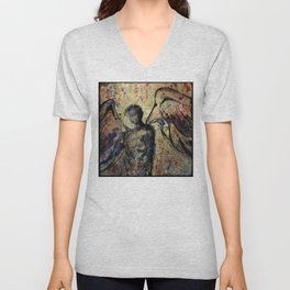 Calling All Angels No. C2 by Kathy Morton Stanion Unisex V-Neck