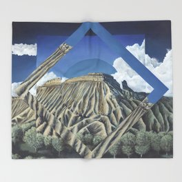 Mount Garfield Polyscape Throw Blanket