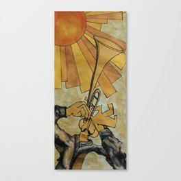 The trumpeter from below Canvas Print