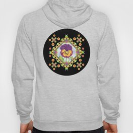 Purple Pansy Portrait Hoody