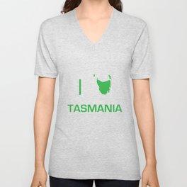 I heart Tasmania Unisex V-Neck