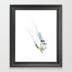The Missing Wampa Scene Framed Art Print