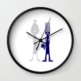 Ms Spoon & Mr Fork are getting married V6S2 Wall Clock
