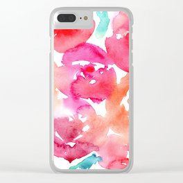 Blooming bouquet #6 || watercolor Clear iPhone Case