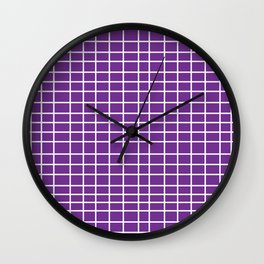Squares of Purple Wall Clock