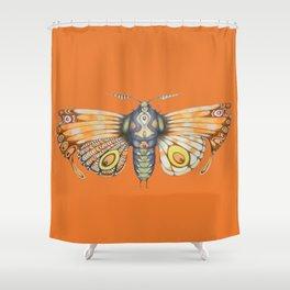 orange moth (ORIGINAL SOLD). Shower Curtain