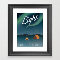 Light Up The Night Framed Art Print