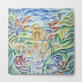 Flower Goddess Metal Print