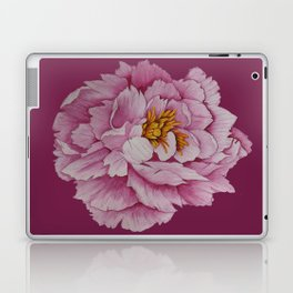 Watercolour Painting of a Pink Peony  Laptop & iPad Skin