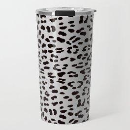 Grey Leopard Skin Travel Mug
