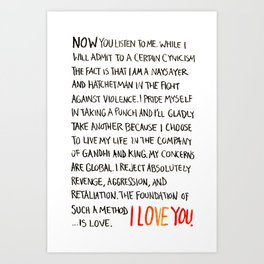 The Foundation of Such a Method Is Love Art Print