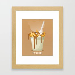 Poutine Framed Art Print