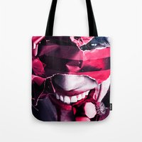 gift card Tote Bags featuring Gift by Imustbedead