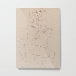 Couple Embracing by Egon Schiele, 1911 Metal Print