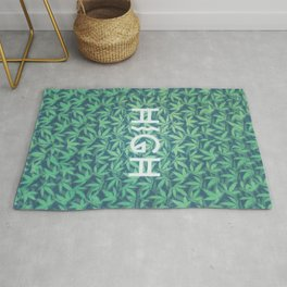HIGH TYPO! Cannabis / Hemp / 420 / Marijuana  - Pattern Rug