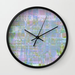 Paint the wall with many colors and shapes Wall Clock