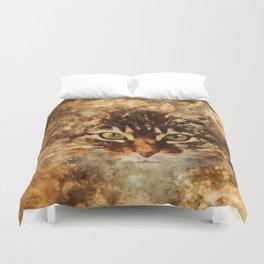 Dirty cat Duvet Cover