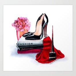 Black shoes Art Print