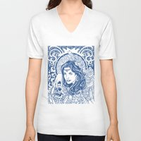 gypsy V-neck T-shirts featuring Gypsy by albertsurpower