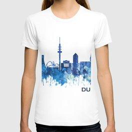 Duisburg Germany Skyline Blue T-shirt