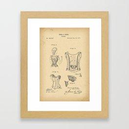 1877 Patent Corset Framed Art Print