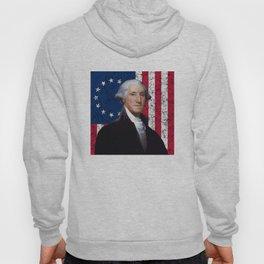 President George Washington and The American Flag Hoody