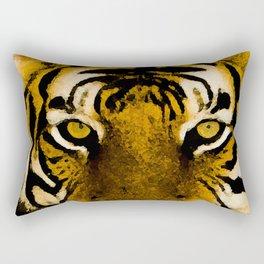 Royal Golden Tiger Rectangular Pillow