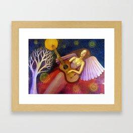Angel and Guitar Framed Art Print