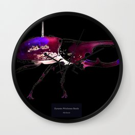Dynastes Wirelessus Beetle Wall Clock