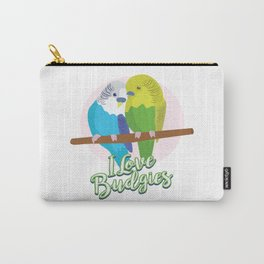 Funny Budgerigar Budgie Pet Bird Lover Nerdy Gift Carry-All Pouch