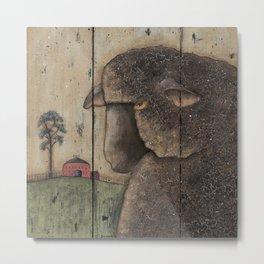 Black Sheep by Donna Atkins Metal Print
