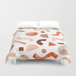geometric shapes peach Duvet Cover