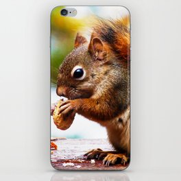 Red Squirrel Thanksgiving iPhone Skin