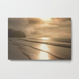 And so it Begins sunrise at Avila Beach California Metal Print