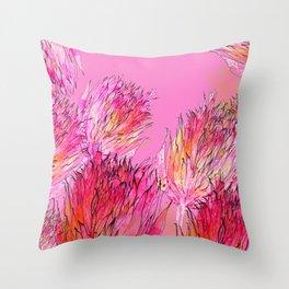 Petal Morpho Floral Throw Pillow