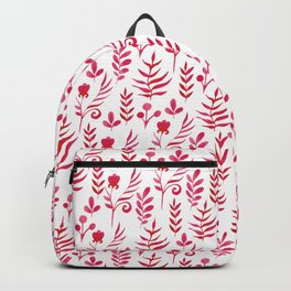 """""""Red meadow"""" white edition Backpack"""