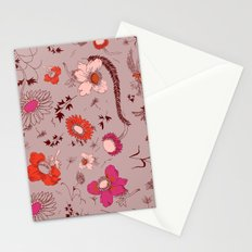 large floral print - pinks Stationery Cards