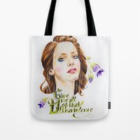 ultraviolence Tote Bags featuring Ultraviolence by eleidiel