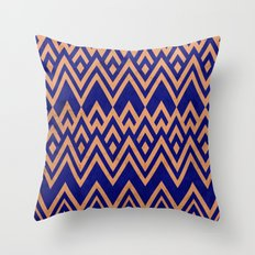 Blue Pines Vintage Pattern Throw Pillow