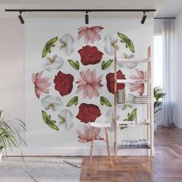 Belle Fleur: Water Lilies Orchids Wall Mural