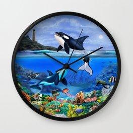 THE ORCA FAMILY Wall Clock