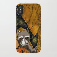 superheros iPhone & iPod Cases featuring We are Groot by Tiffany Saffle