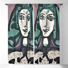 12,000pixel-500dpi - Pablo Picasso - The Woman with the Fishnet, Woman with Green Hair Blackout Curtain