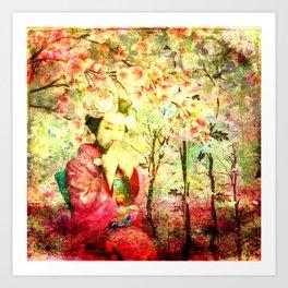 Secrets in the Garden  Art Print